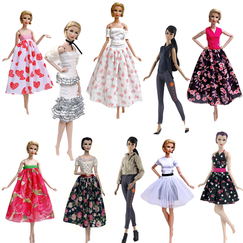 "Fashion Doll Clothes For 11.5/"" 1//6 Doll Outfits Floral Party Dress Gown Skirt"