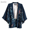 Summer Peacock print kimono Cardigan jacket batwing sleeves Kimono Blouse Boho plus size women shirt tops