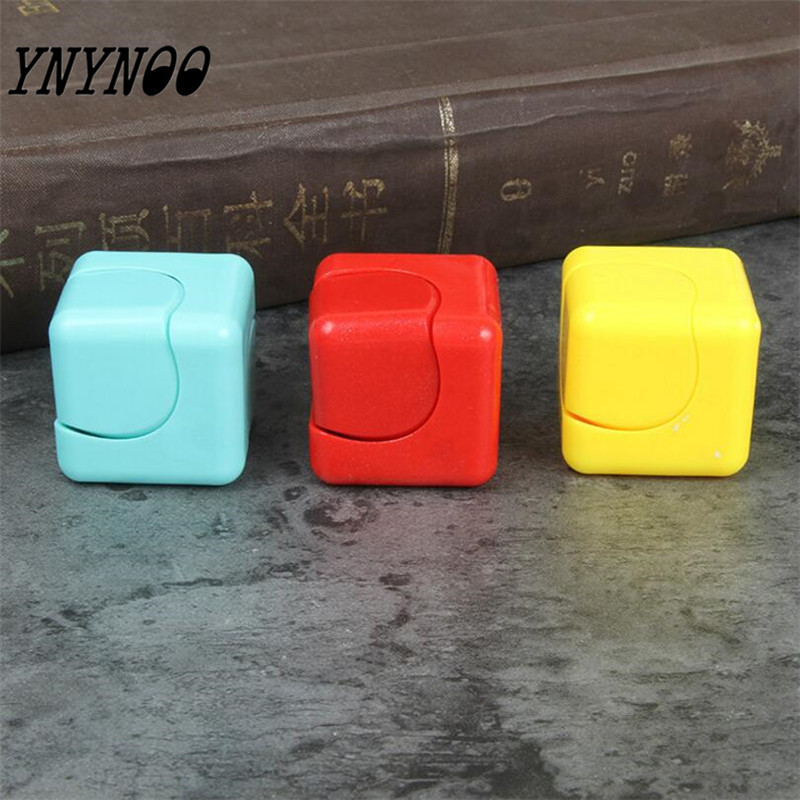 (YNYNOO)Funny Fidget Cube Adult Anti Stress Toys Spin Puzzle Magic Cube Finger Toys Small Gifts For Kids Men