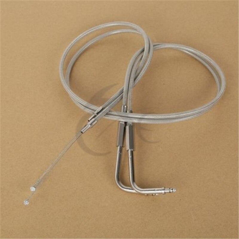 39 100CM Stainless Steel Throttle Cable For Harley FLTR FLHT FLHRC FLHRI FLHRCI Motorcycle