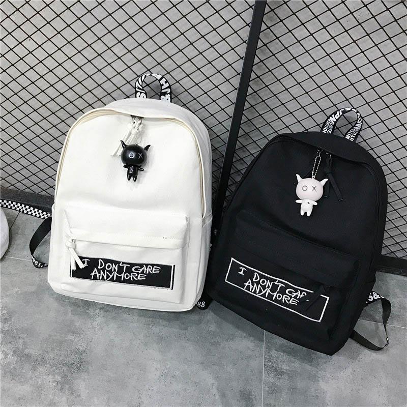 Canvas Laptop School Backpacks For Teens Women's Waterproof College Bag Unisex Large Capacity Travel Bags Female Casual Backpack