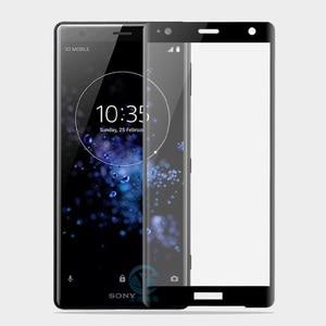 Image 3 - 9H 3D couvercle complet verre trempé pour Sony XZ2 H8216/66/96 Film de protection décran pour Xperia XZ2 Compact H8314/24 Guard