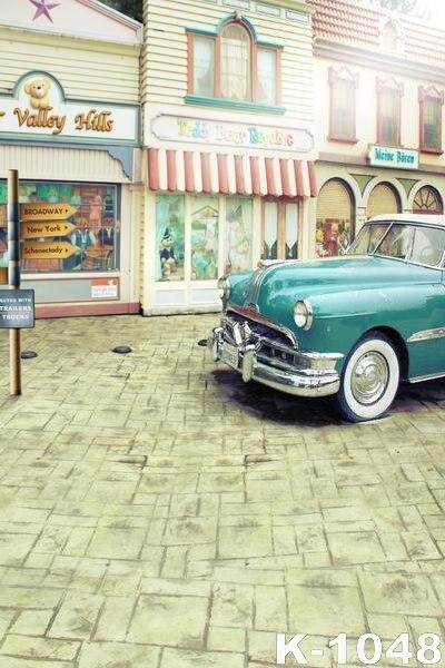 Vinyl Backgrounds 5x7ft Customize Vintage Flooring Photo Studio Backdrops For Photograph Signpost fond de studio de photographie