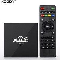 Marca XGODY X96 Android 6.0 Smart TV Media Player 2 GB 16 GB Amlogic S905X Quad Core Wifi 2.4G HD 4 K Kodi 17.1 TV Set Top caja