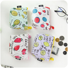 1pc Fashion Creative Cute Fruit Pu Mini Purse Wallet Coin Bag High Quality Outdoor Essential Handbags Storage 4 Colors