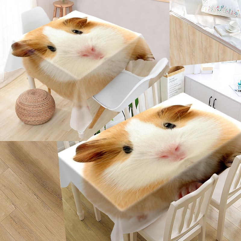 Table & Sofa Linens Tablecloths Methodical Custom Guinea Pig Pattern Table Cloth Rectangular Waterproof Oilproof Wedding Tablecloth Textiles High Quality &lmn764k