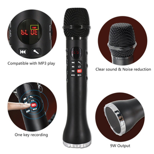 Image 4 - المهنية ميكروفون الكاريوكي 3 في 1 تسجيل مكبر الصوت اللاسلكي مع بلوتوث للهاتف لباد مكثف ميكروفون XIAOKOA