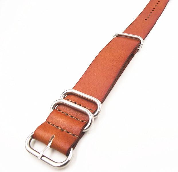 Zulu sangles vente en gros 10 PCS/lots haute qualité 20 MM otan bracelet en cuir véritable bracelet de montre otan sangles montre sangle 110102-in Bracelets from Montres    2