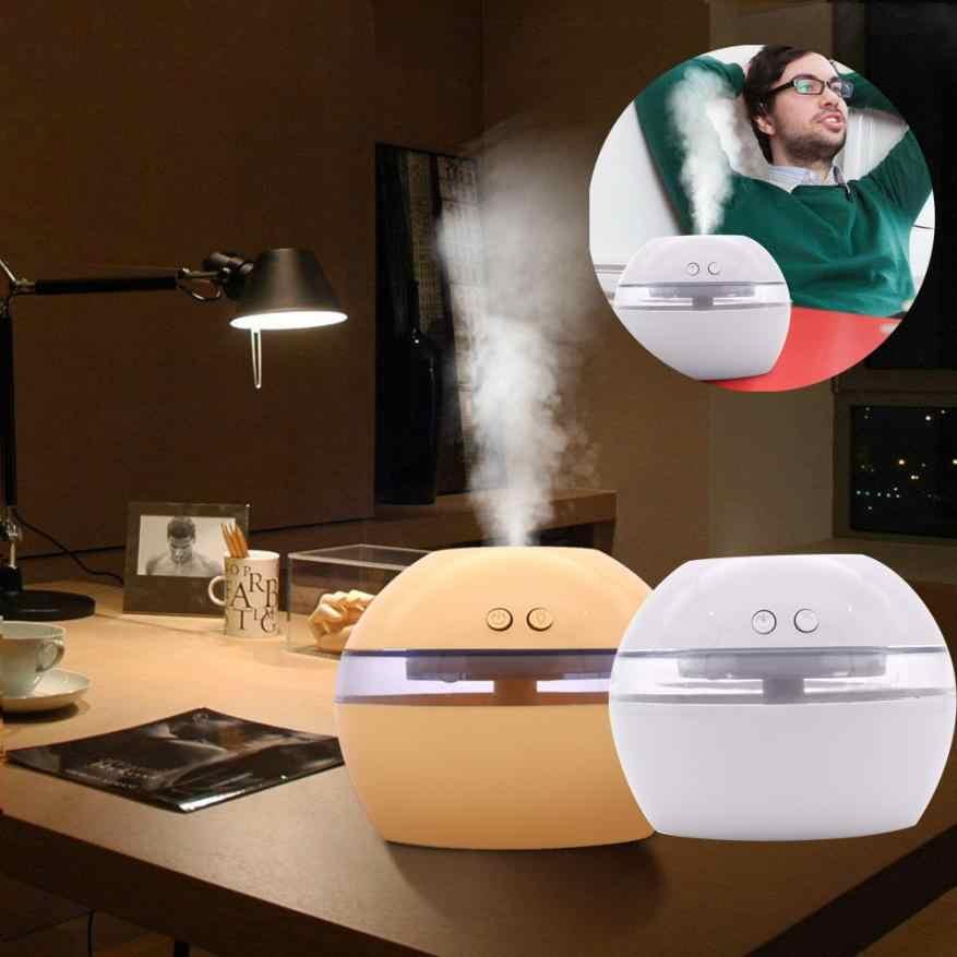 Humidificador de aire Aroma de aceite esencial difusor LED ultrasónico Aroma aromaterapia humidificador Mini humidificador de aire hogar fabricante de niebla Usb