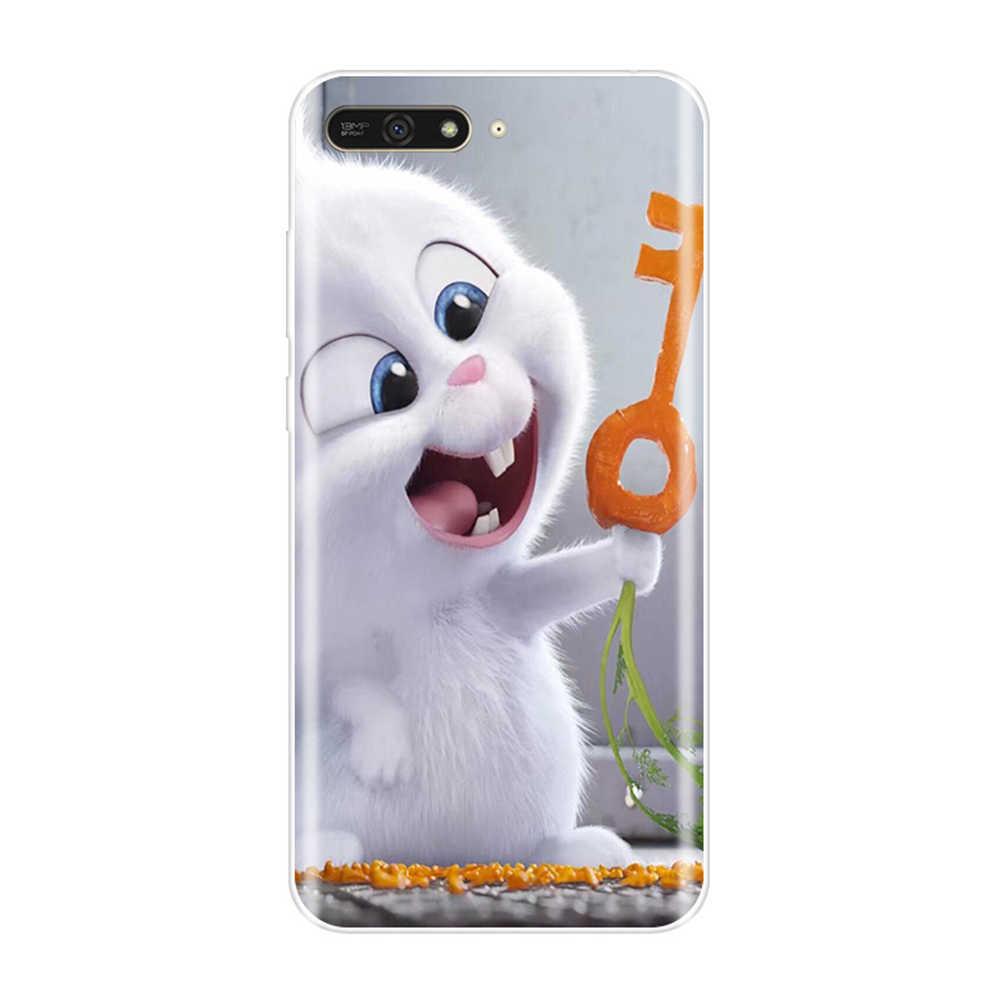 Telefon etui na Huawei Y5 Y6 Y7 Prime 2017 2018 Y9 2019 miękka TPU moda tylna pokrywa dla Huawei Y3 Y5 Y6 II Y7 Pro futerał silikonowy