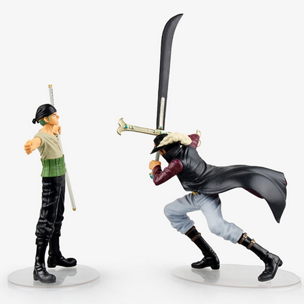 Anime One Piece Dracule Mihawk & Roronoa Zoro Action Figure Classic Collection Model
