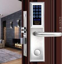 Электронный Умный дом цифровой светодиодный Сенсорный экран пароль дверной замок с ключом и карты ET958pw