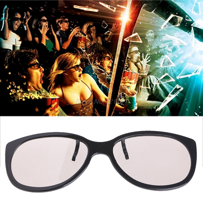 Clip-On Type Circular Passive Polarized 3D Glasses For TV Real 3D Cinema 0.22mm Dropship