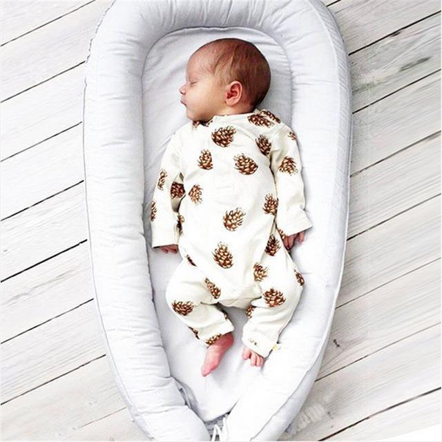 2017 Nueva Marca Mamelucos Del Bebé de Manga Larga 1 Unids Suave de Algodón Ropa de Bebé Recién Nacido Bebé de La Manera Pijamas Ropa Infantil