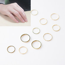 10PC/1pc sleek minimalist design ring set gold silver retro circle women's jewelry party gift engagement accessories boutique(China)