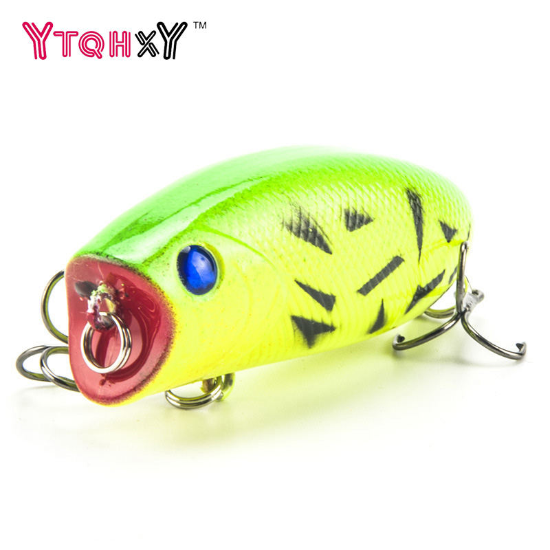 1PCS Popper Fishing lure Pesca Topwate Isca Artificial 11g 5.5cm Crankbaits 3D Eyes Lifelike Hard Bait Fishing Tackle WQ21 1pcs diving minnow fishing lure 9cm 26g isca artificial hard bait pesca wobbler crankbait 6 hook 3d eyes fishing tackle ye 11