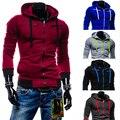2016 Outono Dos Homens Camisola Hoodies Homens Cardigan Casual Zipper Moletom Com Capuz Fino Masculino Moletom Sportswear Hoodies 4XL 10