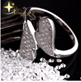 New 2014 925 Sterling Silver Micro Pave Crystal CZ Heart Lover Romantic Wedding Gift Rings for Women & Men Free ShippingHRH71002