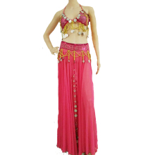 Women Belly Dancing Costume Halter Bra Top + Skirt + Shawl Set 3pcs Bollywood Carnival Christmas Halloween Performance Show #17