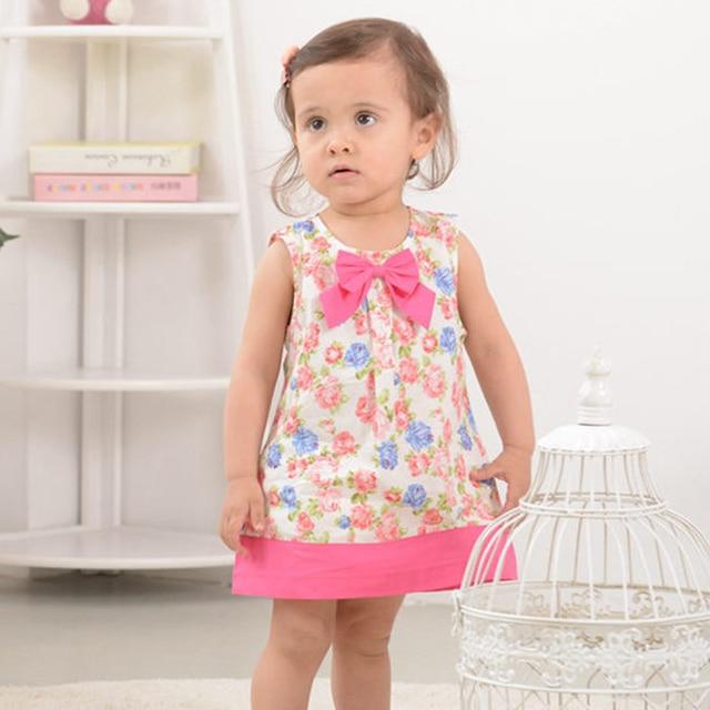 1085b27b12f77 Baby Girls Dress,Summer Cotton Sleeveless Princess Dress,Fashion Brand Kids  Dresses,Children Clothes(18 moths 3 yrs)-in Dresses from Mother & Kids
