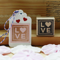 High Quality Love Design Happy Valentine S Day 4 4cm Wooden Scrapbooking Rubber Stamps Carimbo For