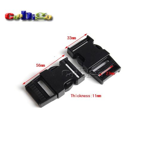 """10 unids Paquete 1 """"(27mm) cinchas plástico fuerte lado liberación hebilla para mochila Correas Bolsas de viaje # flc331-25"""