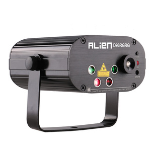 Image 2 - ALIEN 96 Patterns Dual Red Green Laser Projector Blue LED Stage Lighting Effect DJ Disco Club Party Wedding Light With Remote
