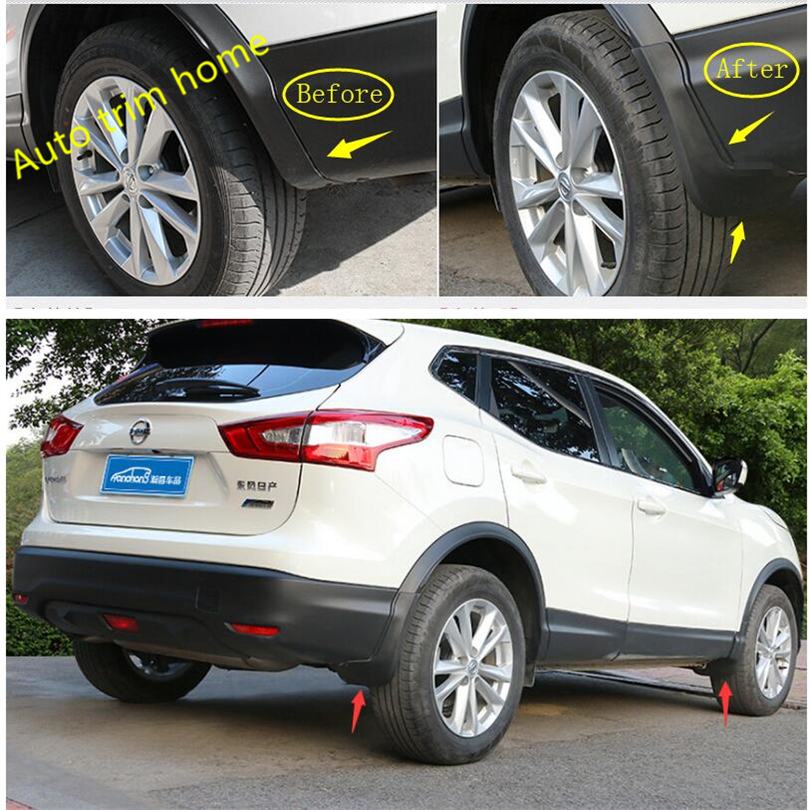 Car Mud Flaps for N issan Juke 2010-2014 Custom Mud Guard Front and Rear wheels Splash Guard Heavy Duty Fender Flares 4pcs