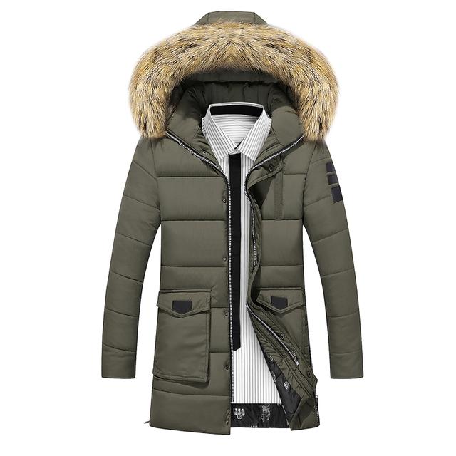 ACTIDEE Marca 2016 Novo Inverno dos homens Sólida Longo Parkas Moda Acolchoado Streetwear Casual Sobretudo Homens Jaqueta de Inverno Terno For-20