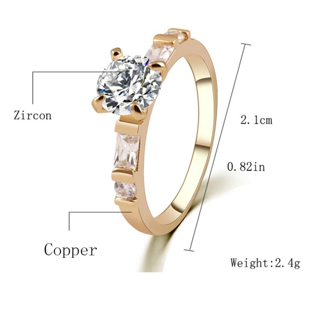 Women Ring Titanium Stainless Steel Circle Cz Wedding Engagement Fashion Jewelry