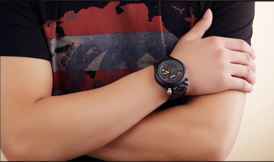 HTB1h7z9XL9TBuNjy1zbq6xpepXaC MEGIR Watch Orange Numbers  Creative Watches