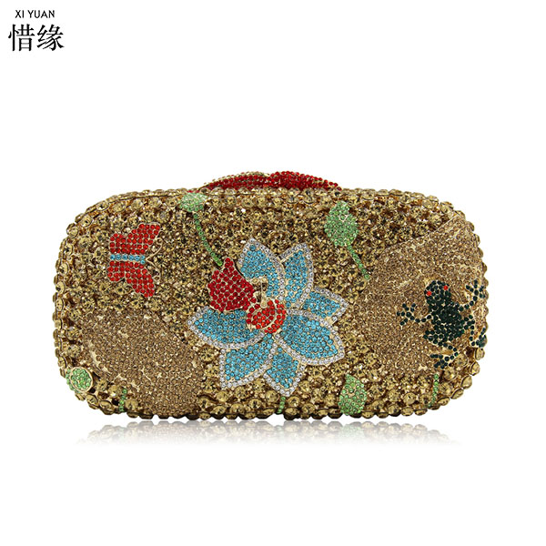 XIYUAN BRAND gold Coin Purse diamond crystal Women Wallet Purses Female Card Holder Long Lady Clutch purses Carteira Feminina 100% women genuine leather wallet oil wax cowhide purse woman vintage lady clutch coin purses card holder carteira feminina