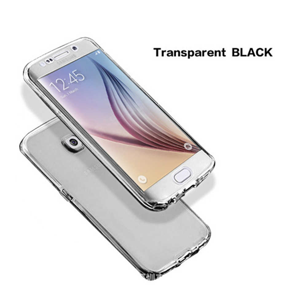 Đầy đủ Cơ Thể Trong Suốt mềm mại Cho Samsung s7 S9 S8 Cộng Với S5 S6 S7 Cạnh A3 A5 2017 A7 J1 2016 j3 J5 J7 Thủ A8 A6 2018 Bìa Trường Hợp