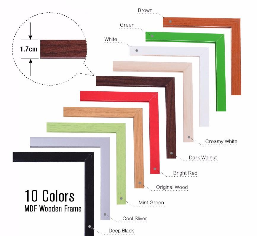 Доска деревянная магнитная 11 цветов 30 х40 см wb23