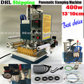 DHL ship1PC Пневматический горячего тиснения машина Кожа тиснение Логотипа машина, Маркировка пресс, Debossing машина 220 В Вертикальной