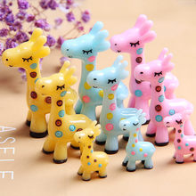 1 Piece Cute Cartoon Mini Giraffe Model Small Statue Figurine Crafts Ornament Miniatures Pendant Necklace Earring Headwear DIY(China)