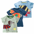 18 M-6 T Bebê Menino T-shirt Ocasional Dos Desenhos Animados Manga Curta T-shirt de Alta Qualidade 100% Algodão Crianças Roupas de Verão