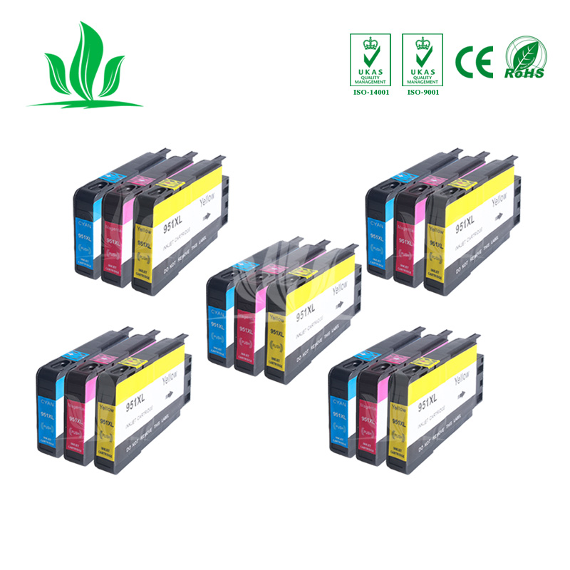 950XL 5 XCMY Compatible Pour HP 950XL 950 Cartouches d'encre Officejet Pro 8100 8600 8610 8615 8620 8625 251dw 276dw pour HP950