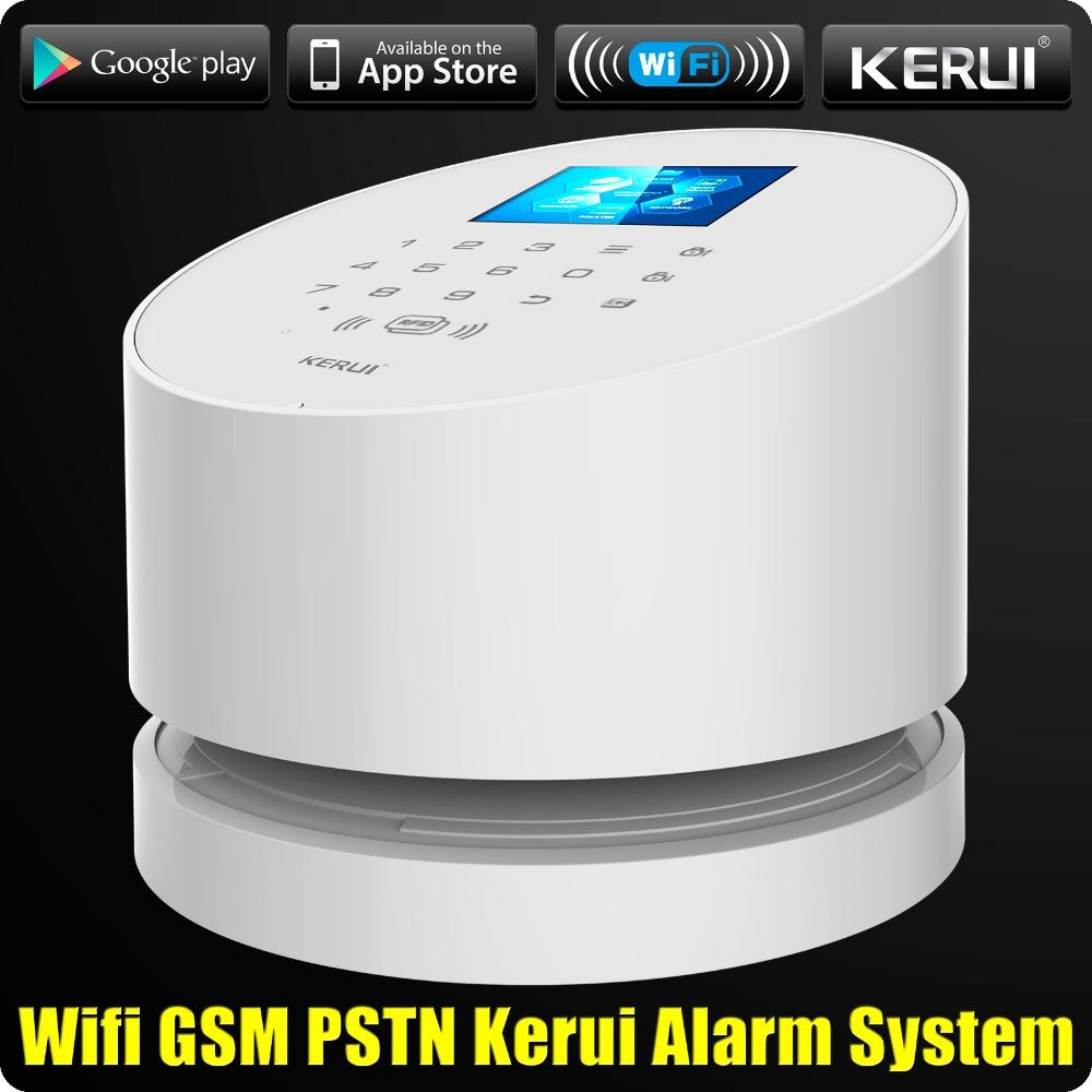 KERUI W2 WiFi GSM PSTN Home Security Alarm System Android IOS APP Remote Control with Dual Antenna Wifi CCTV Camera 1