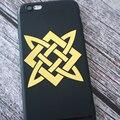 JS-006#58*58мм Славянский узор 3D Крутые никель металлические наклейки на авто телефон стикеры наклейки на автомобиль