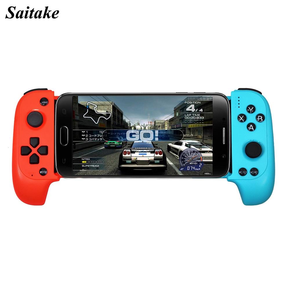 Nova Saitake 7007X Telescópica Sem Fio Bluetooth Game Controller Gamepad Joystick para Samsung Xiaomi Huawei Android Telefone PC