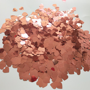 Image 5 - 300g/500g/1kg 1.5CM Rose Gold Foil Confetti Balloons Baby Wedding Birthday Party Gold Round Star Heart Shape Confetti Decor gift
