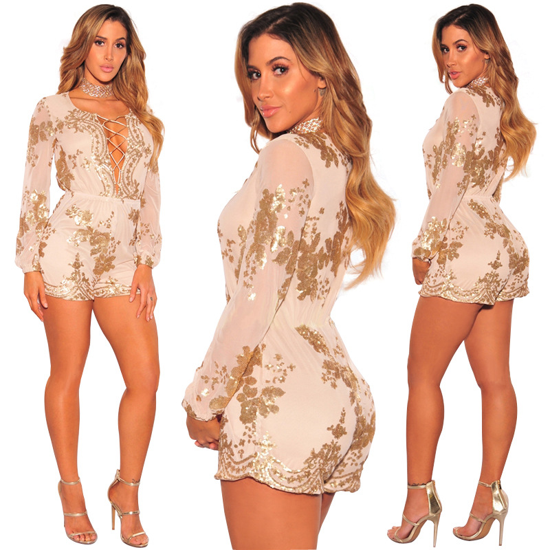 Motivated Super Fashion Spring Summer Jumpsuits Women High Quality Lace Patchwork Embroidery Sexy Party Jumpsuit Rompers Ladies Bodysuits Women's Clothing
