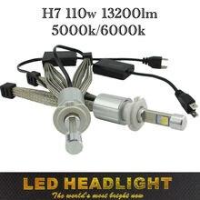 Ossen P70 XHP-70 LED Farlar H7 110 w 13200lm H4-3 Hi/Lo H8 H9 HB3 9005 HB4 9006 H11 LED Far 5000 k Süper Parlak Sis Lambası