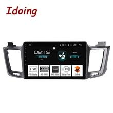 Idoing 10,2 «4 г + 64 г 2.5D 8 Core 1 Din автомобильный Радио Android 8,0 мультимедийный плеер подходит Toyota RAV 4 2013-2016 gps-навигация Авторадио