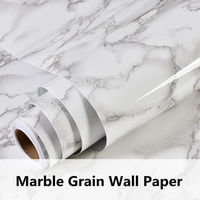 New Arrival 1 22x10m Grey Color Marble Contact Paper Wallpaper Self Adhesive Peel Stick Wall Covering