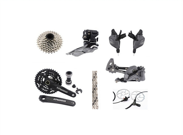bicycle ultegra group 3X 9 speed 27 speed  Drivetrain groupset Upgrade Mountain Bike MTB Group SET Bicycle Parts 9pcs west biking bike chain wheel 39 53t bicycle crank 170 175mm fit speed 9 mtb road bike cycling bicycle crank