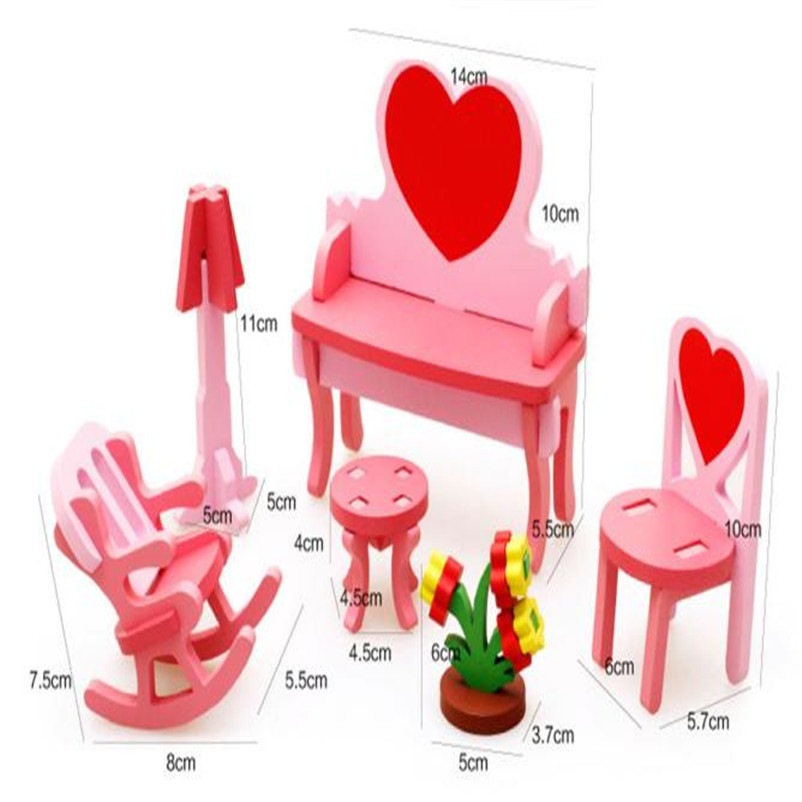 2018 детские развивающие игрушки деревянные Конструкторы 3D дома стол стул комод дропшиппинг оптовая розничная торговля P3