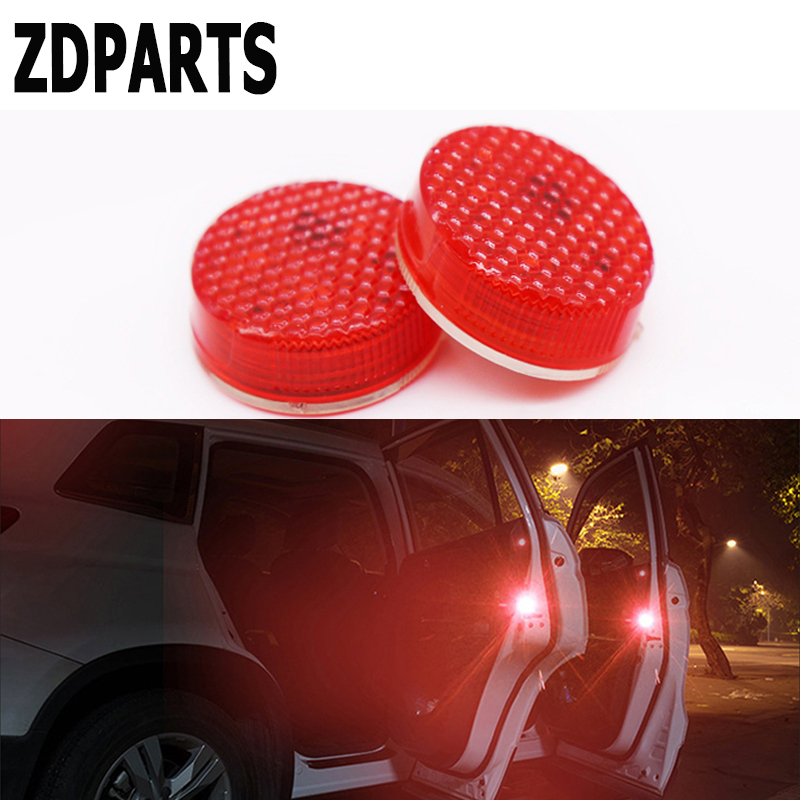 ZDPARTS Car Door Warning Signal Light LED Wireless Avoid Crash For Toyota Corolla Avensis Rav4 c-hr VW Passat B6 B5 Polo Jetta
