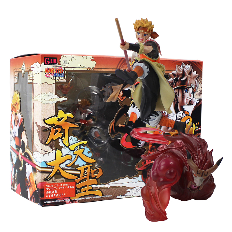 18cm GEM Naruto Shippuden Uzumaki Cos Son goku The Monkey King Figurine PVC Action Figure Model Collectible Toy Doll Gift